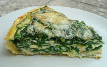 Spinach & mustard cream quiche