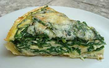 Spinach & mustard creamquiche