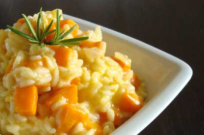 Risotto pumpkin rosemary