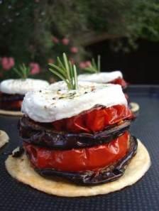 Tomato aubergine tart
